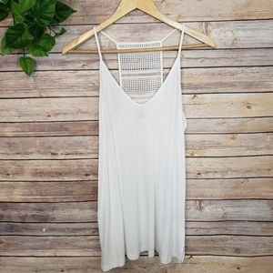 3/$20 Old Navy Detailed Back White Tank Top Small